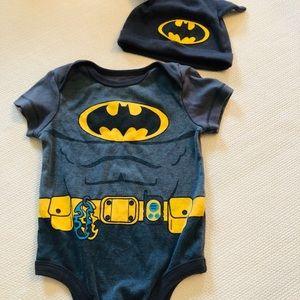 Batman onesie and hat